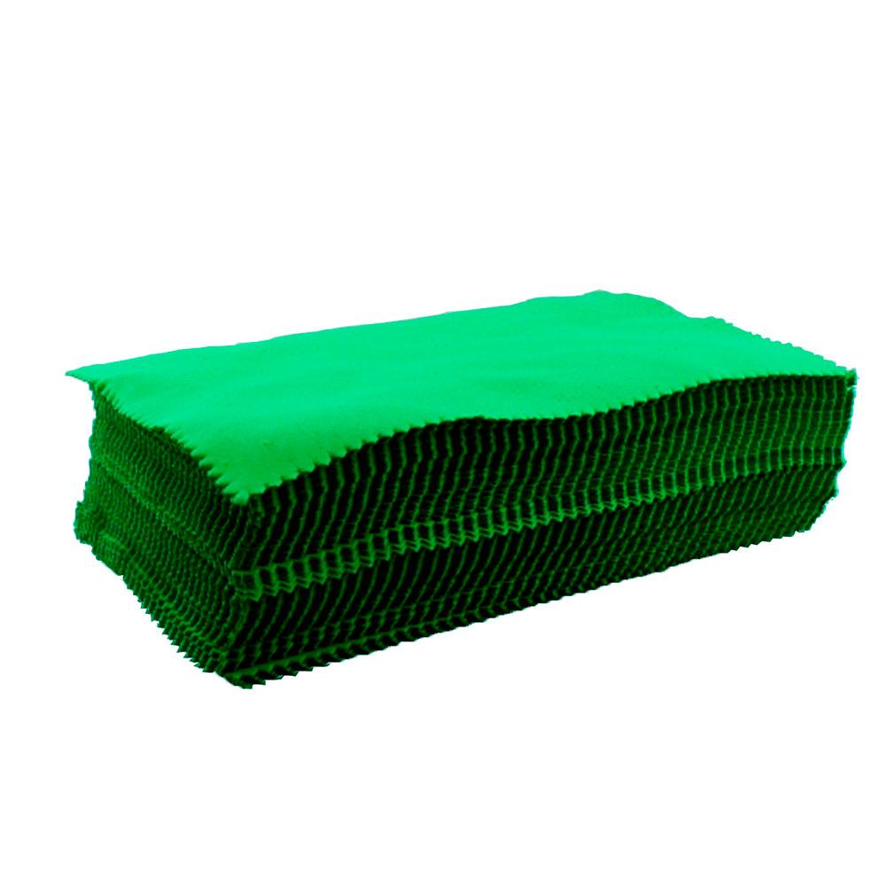 Flanela para Limpeza de Óculos em Microfibra 205FLA Verde com 100 Unidades