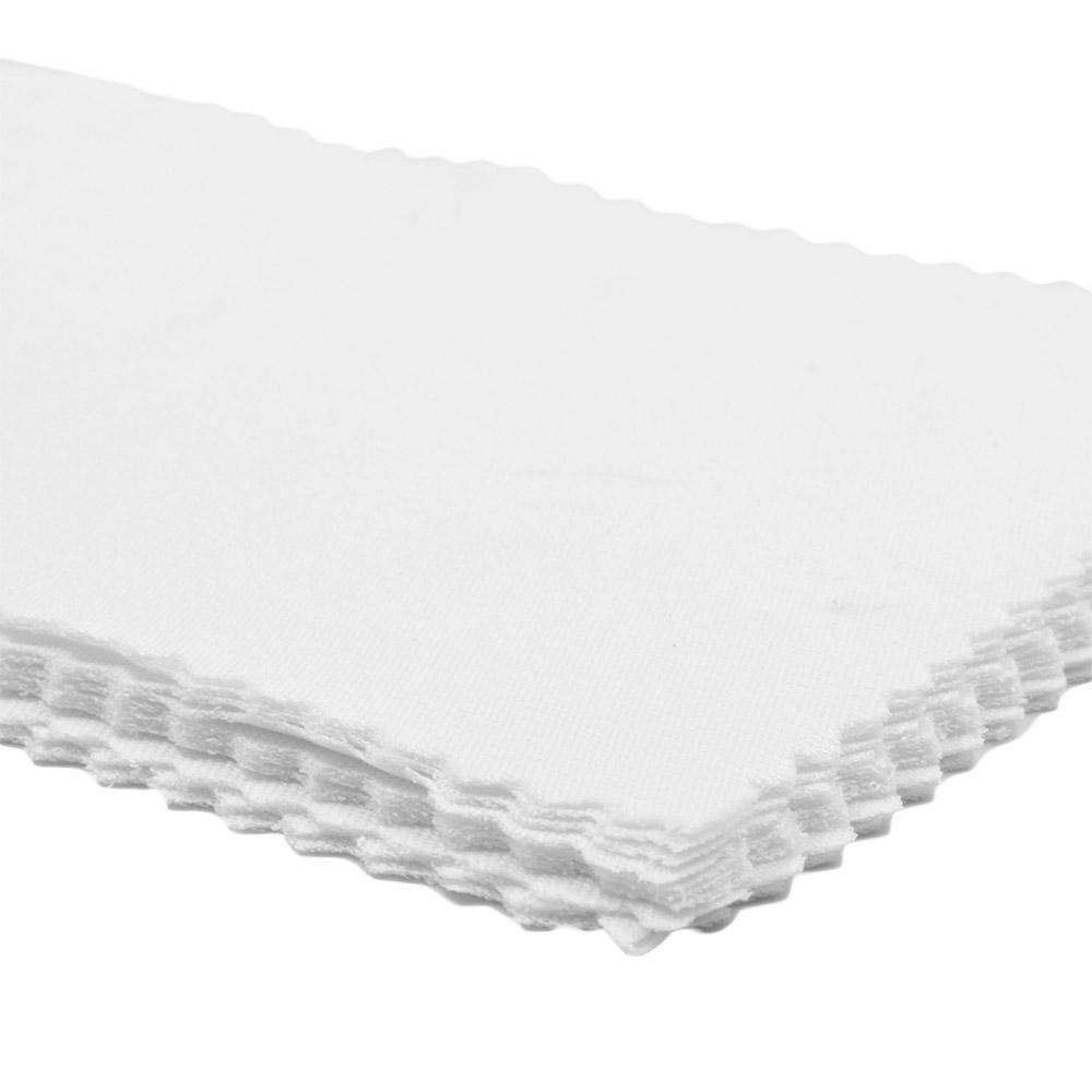 Flanela para Limpeza de Óculos em Poliéster 006 Branca com 10 Unidades