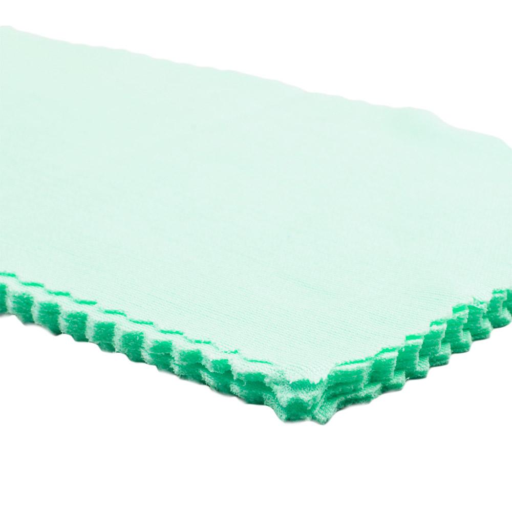 Flanela para Limpeza de Óculos em Poliéster 006 Verde com 10 Unidades
