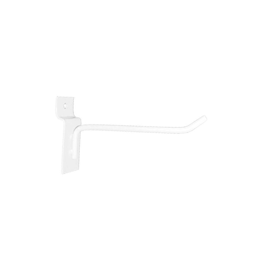 Gancho Expositor para Painel Canaletado 10cm Branco GP10B - Unidade