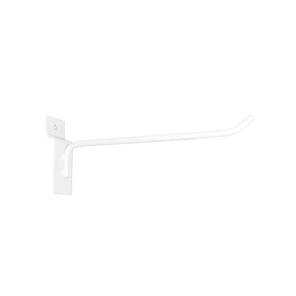 Gancho Expositor para Painel Canaletado 15cm Branco GP15B - Unidade