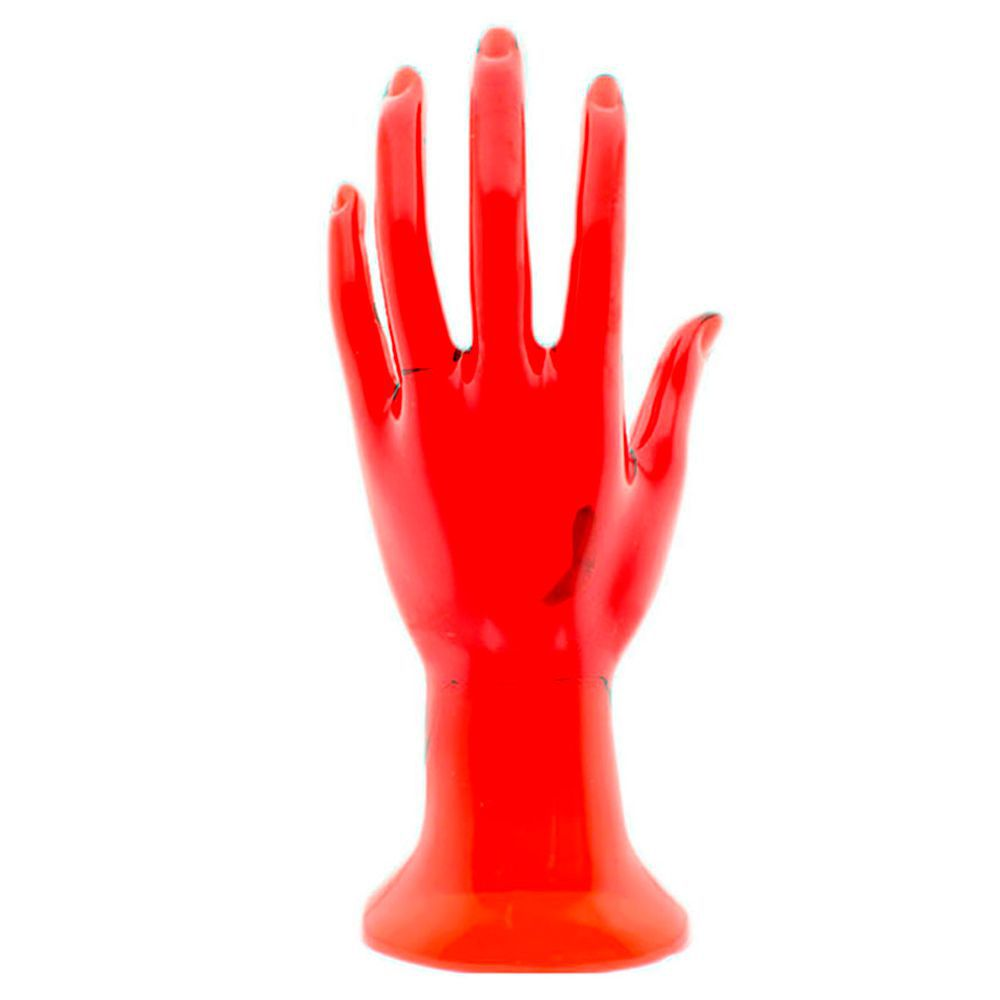 Mão Manequim para Exposição de Jóias em Acrílico 100215 Vermelha