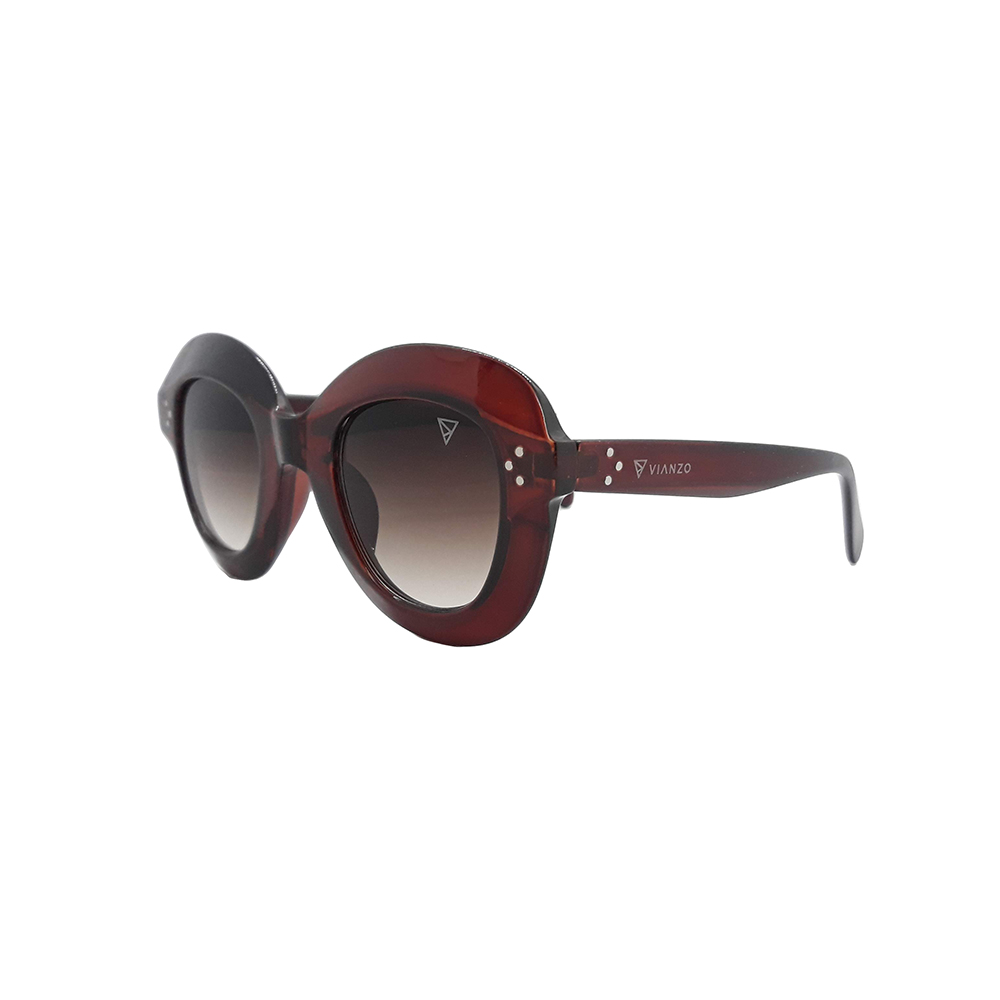 Óculos Solar Feminino 1742 Marrom Vianzo com Estojo