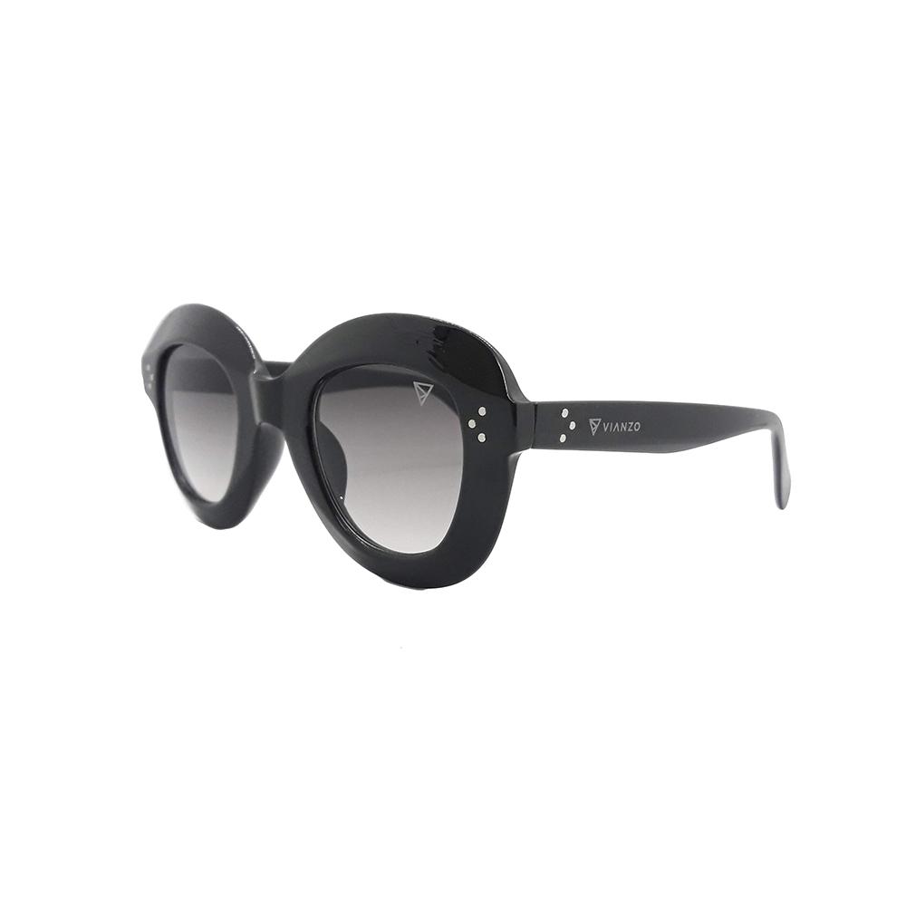 Óculos Solar Feminino 1742 Preto Vianzo com Estojo