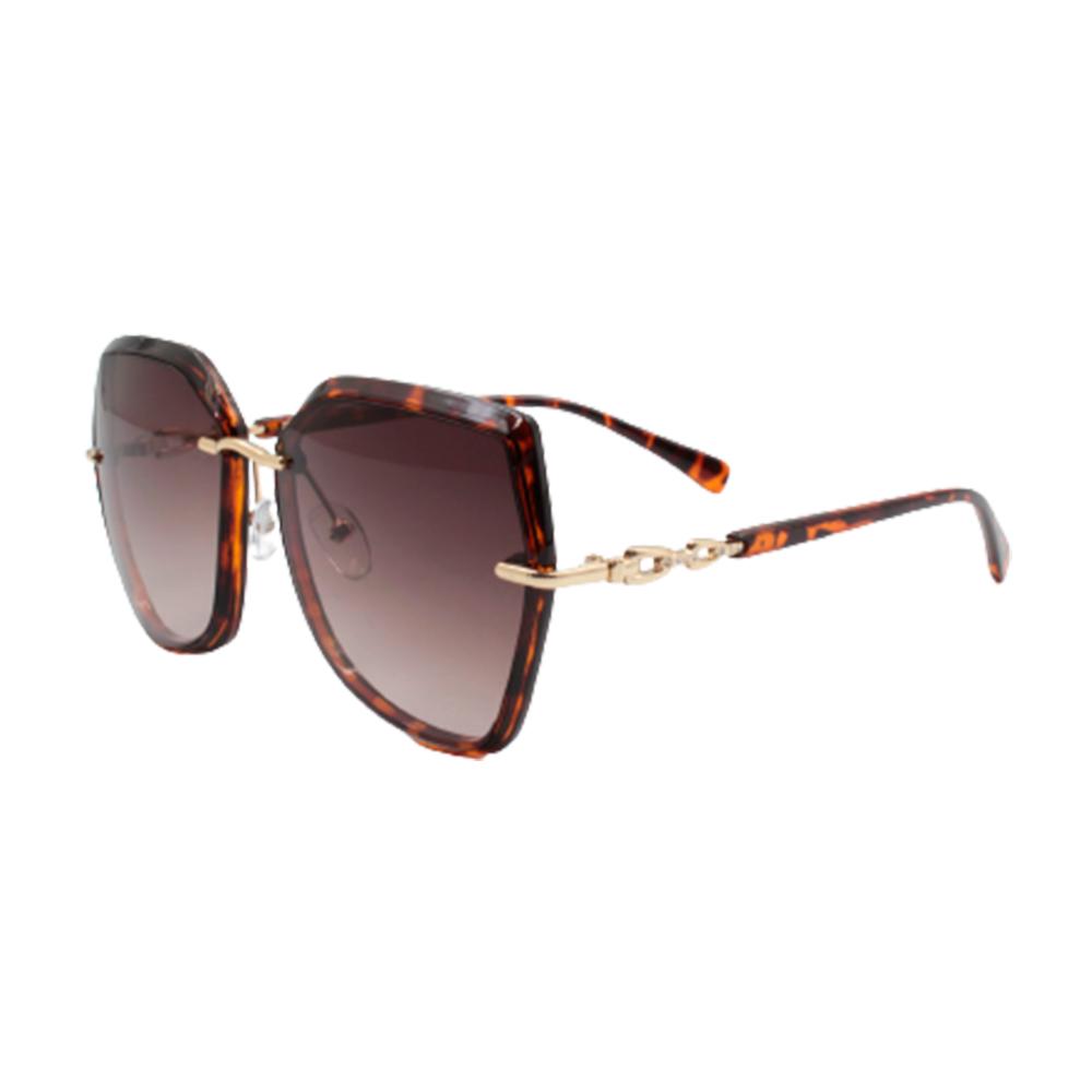 Óculos Solar Feminino 9101-C8 Marrom Mesclado