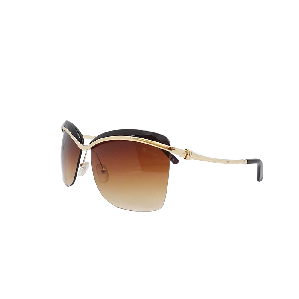 Óculos Solar Feminino 933 Marrom Vianzo com Estojo