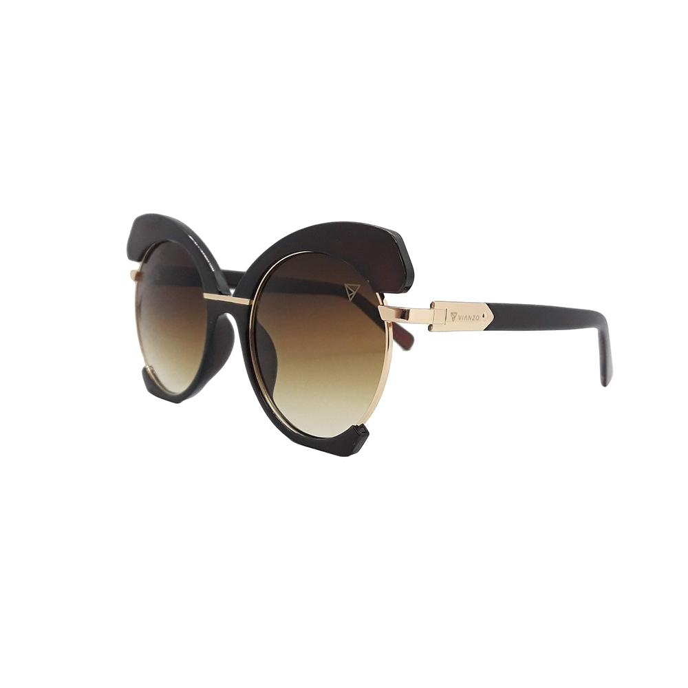 Óculos Solar Feminino E8050 Marrom Vianzo com Estojo
