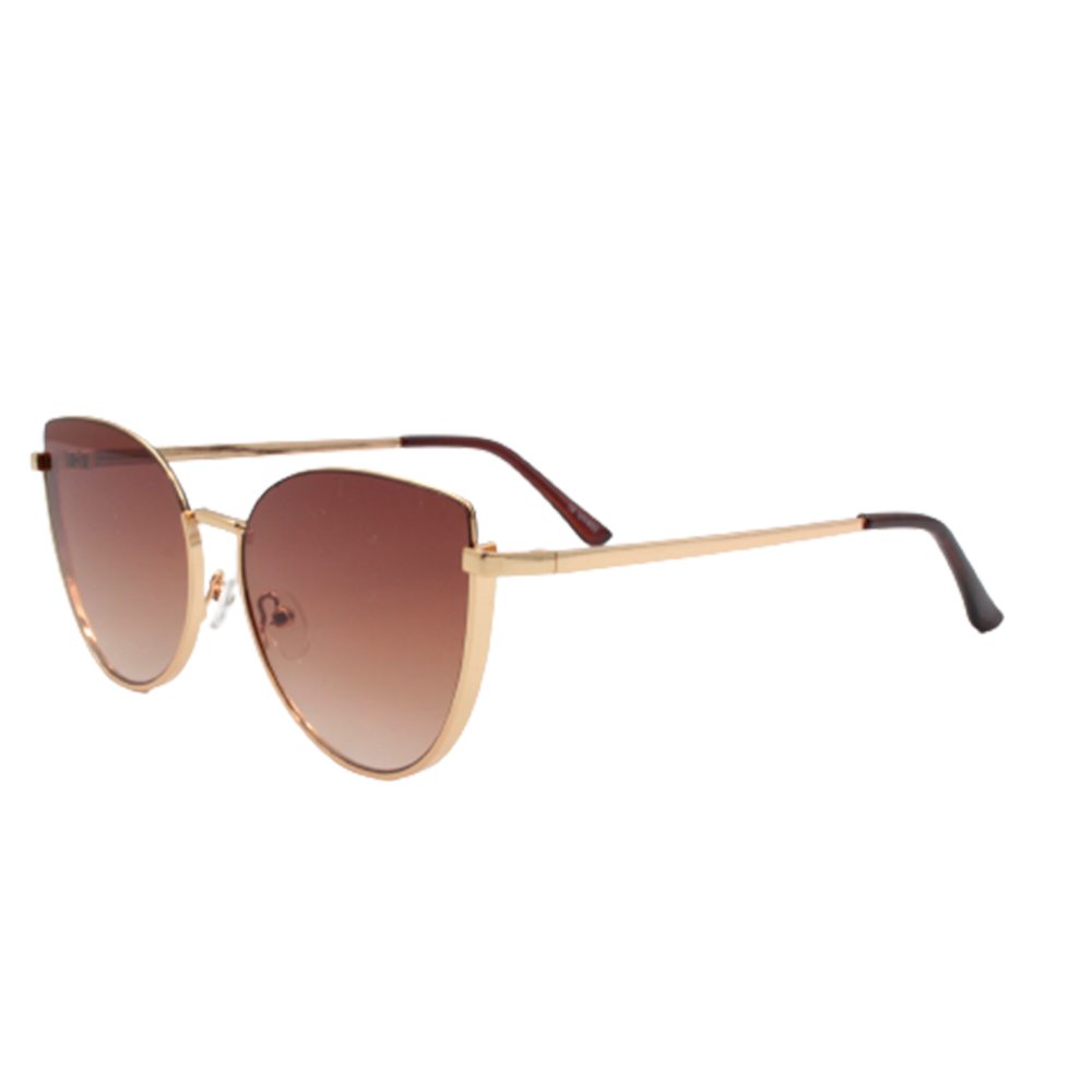 Óculos Solar Feminino FY8198-C3 Dourado e Marrom