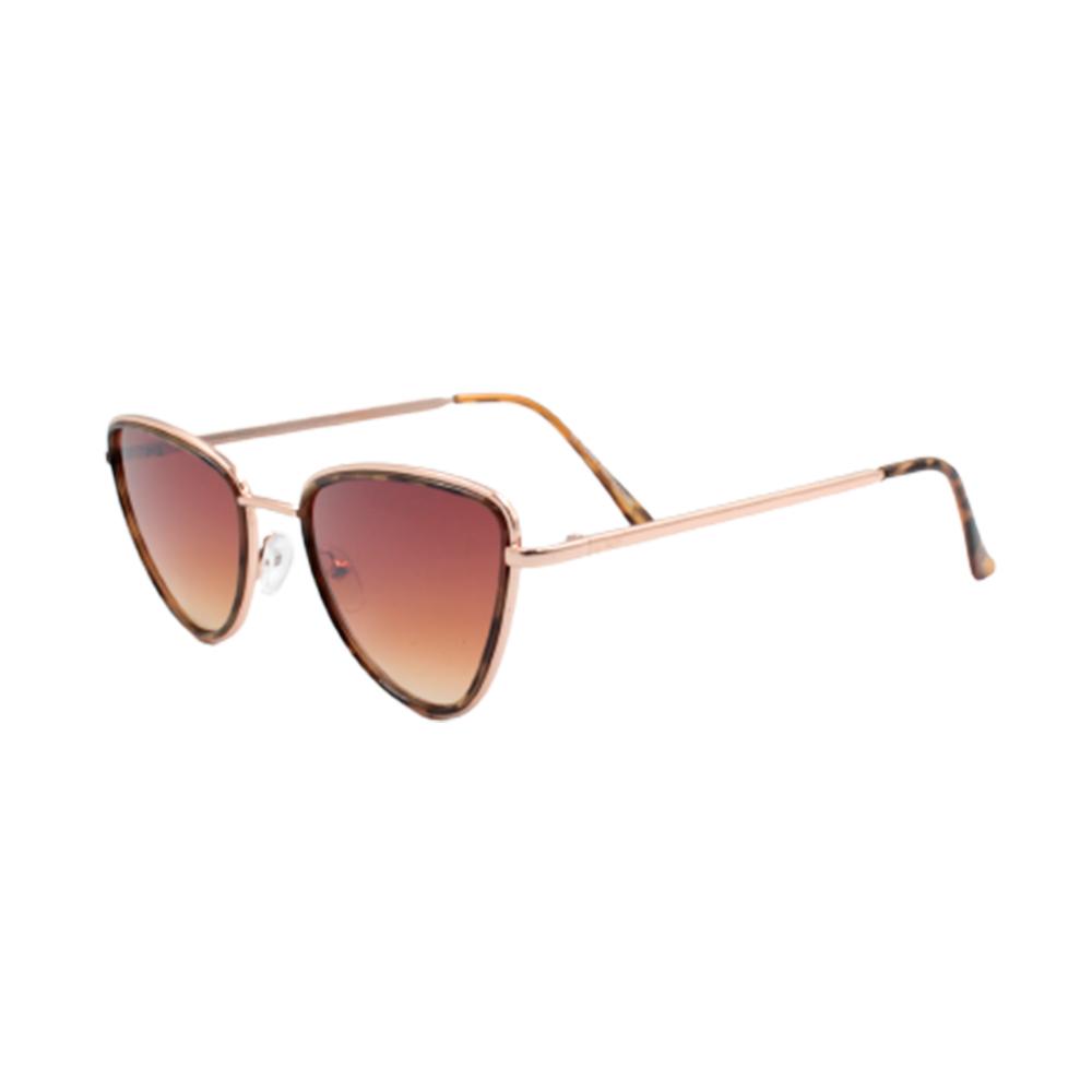Óculos Solar Feminino H02352-C2 Dourado e Marrom Mesclado