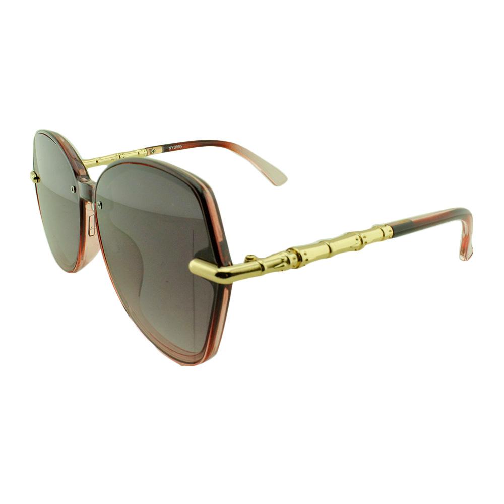 Óculos Solar Feminino NYD085 Vinho Translúcido