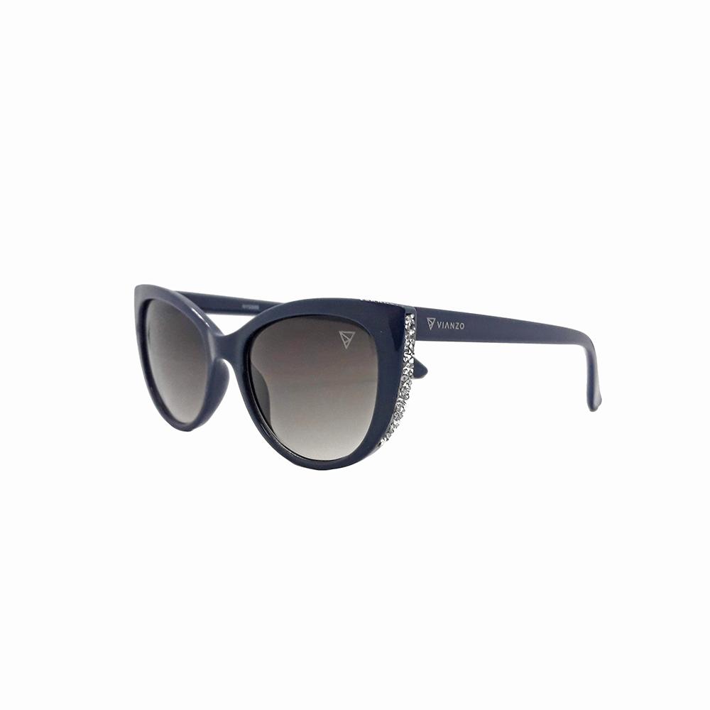 Óculos Solar Feminino NYD095 Azul Vianzo com Estojo