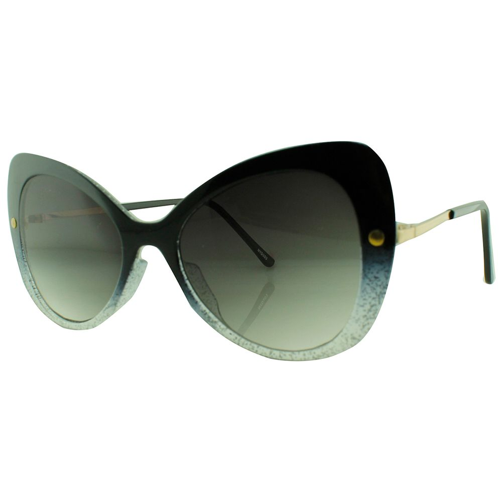 Óculos Solar Feminino NYD103 Preto com Giltter