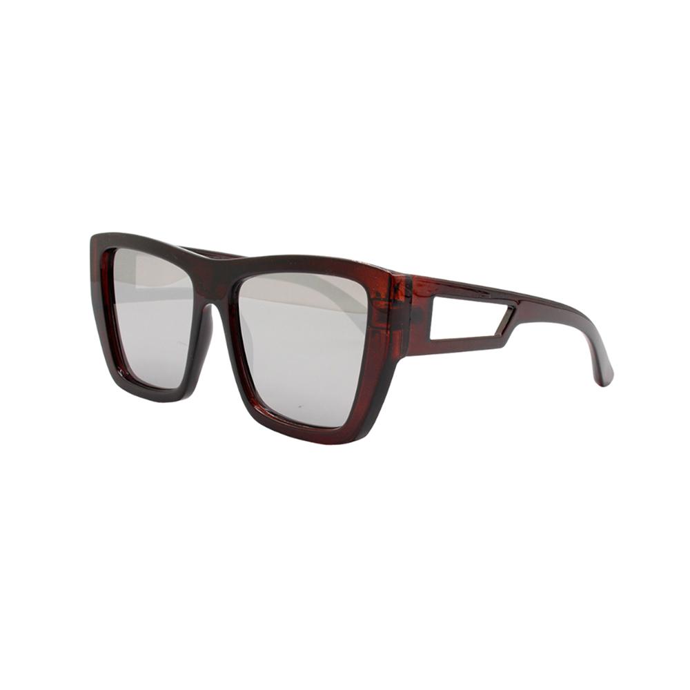 Óculos Solar Feminino NYD153 Marrom e Prata