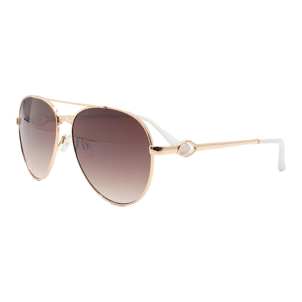 Óculos Solar Feminino Primeira Linha Aviador B88445 Dourado e Marrom