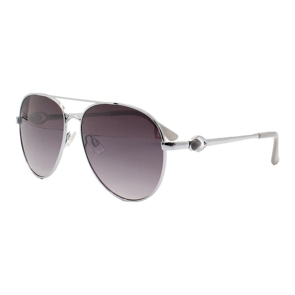 Óculos Solar Feminino Primeira Linha Aviador B88445 Prata e Preto