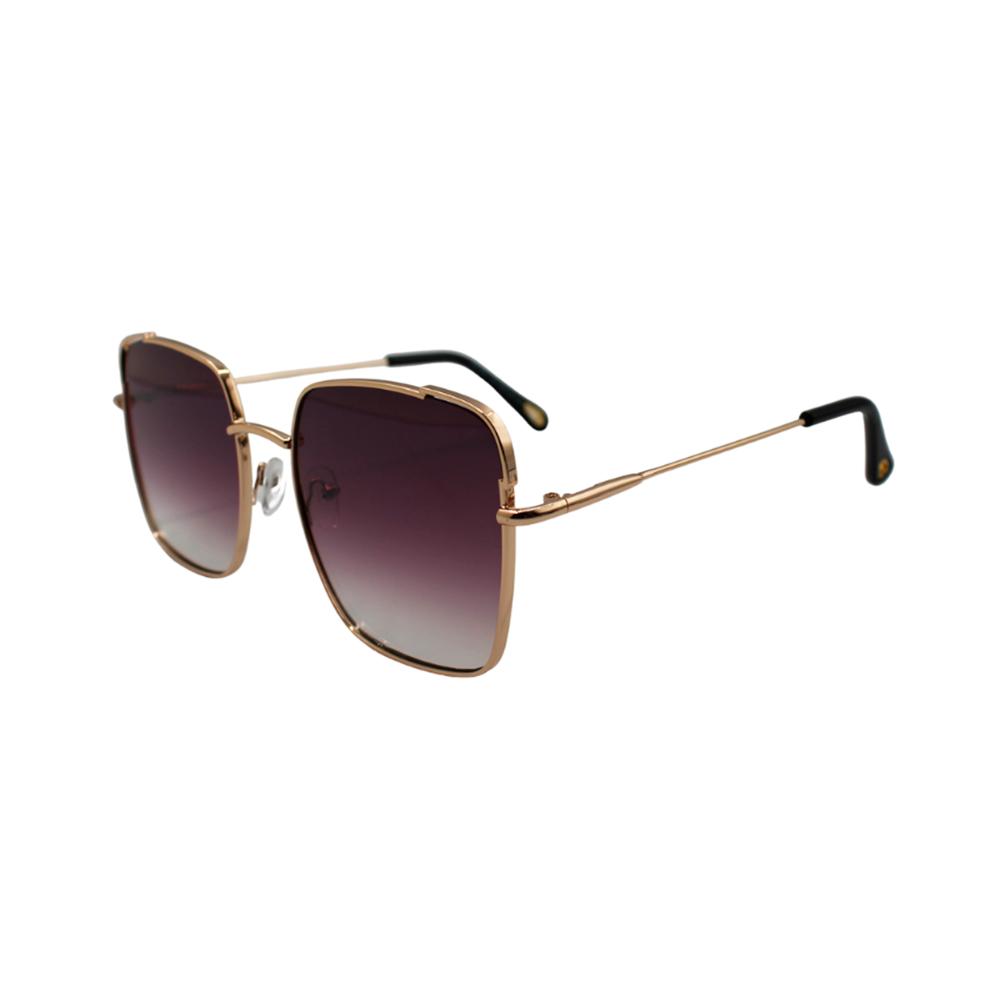 Óculos Solar Feminino Primeira Linha BG7601-C5 Dourado e Roxo