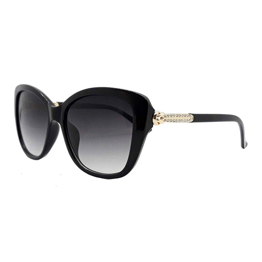 Óculos Solar Feminino Primeira Linha FY8107 Preto Degradê