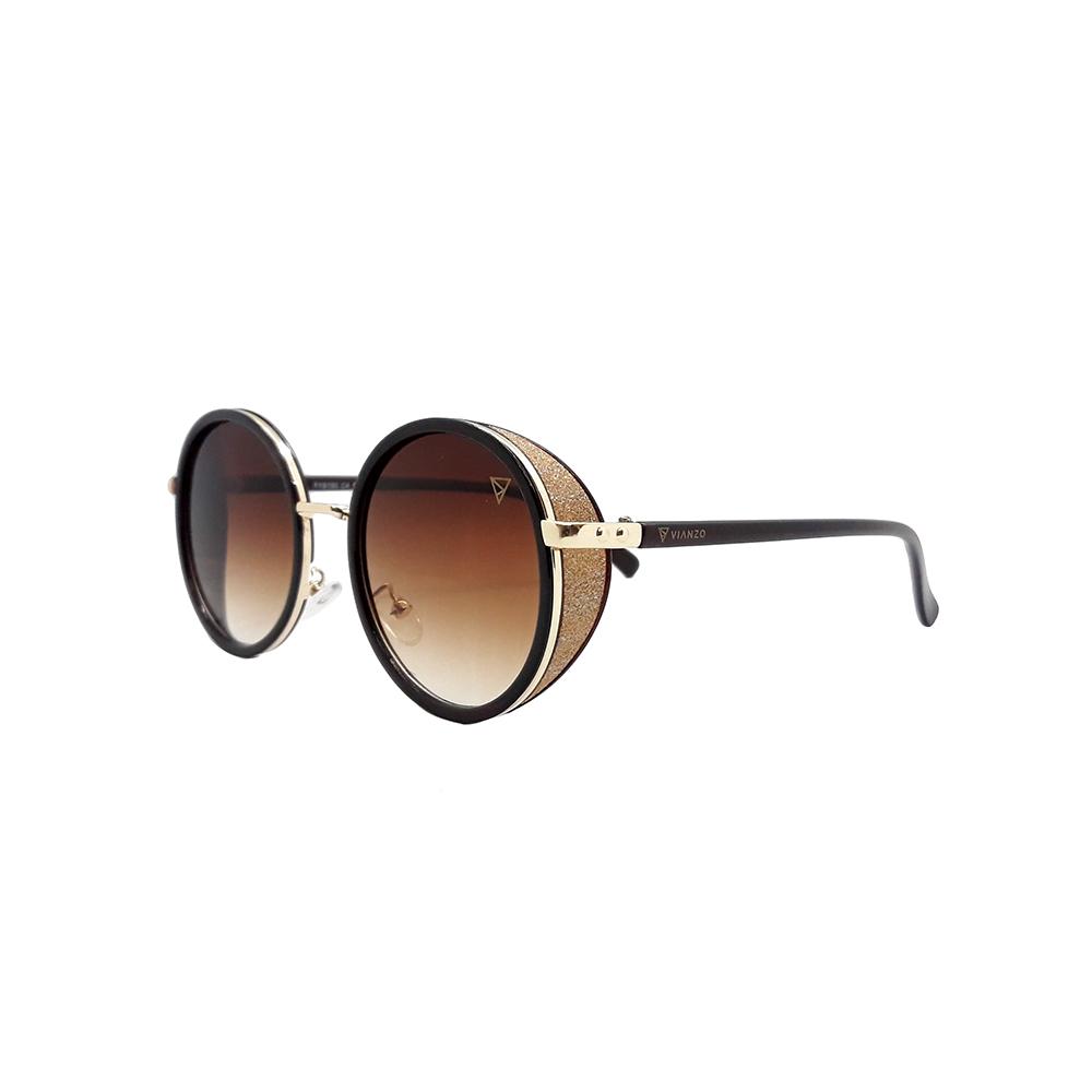 Óculos Solar Feminino Primeira Linha FY8150 Marrom Vianzo com Estojo