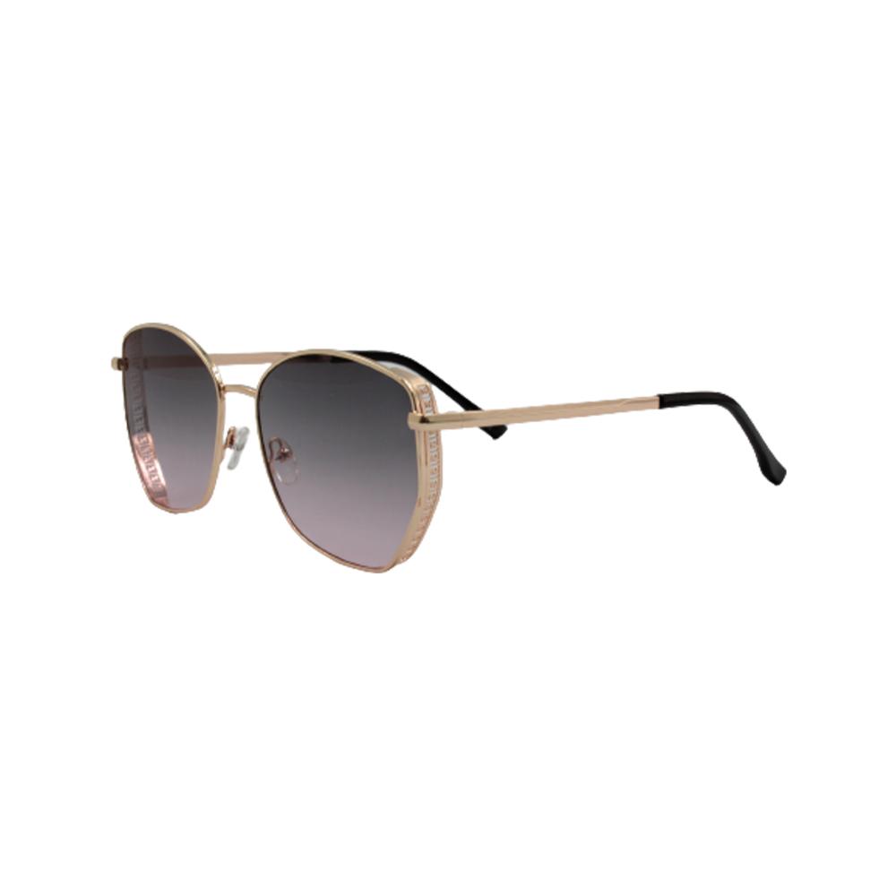 Óculos Solar Feminino Primeira Linha FY8191-C4 Dourado e Fumê
