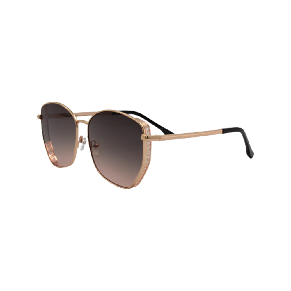 Óculos Solar Feminino Primeira Linha FY8191-C6 Dourado e Marrom Escuro