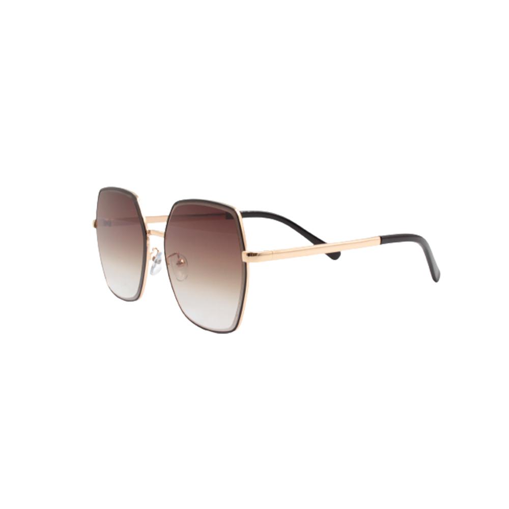 Óculos Solar Feminino Primeira Linha LQ95591-C2 Dourado e Marrom Escuro