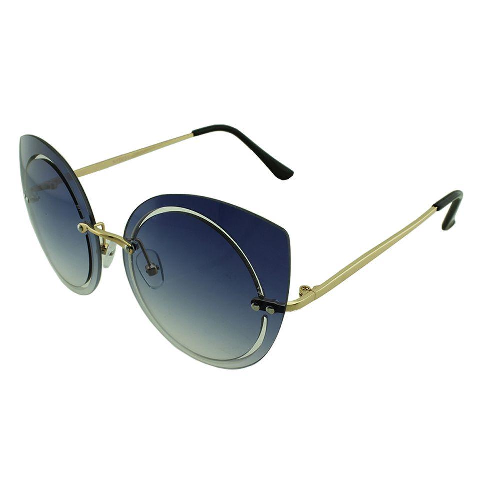 Óculos Solar Feminino Primeira Linha NYD031 Azul Degradê