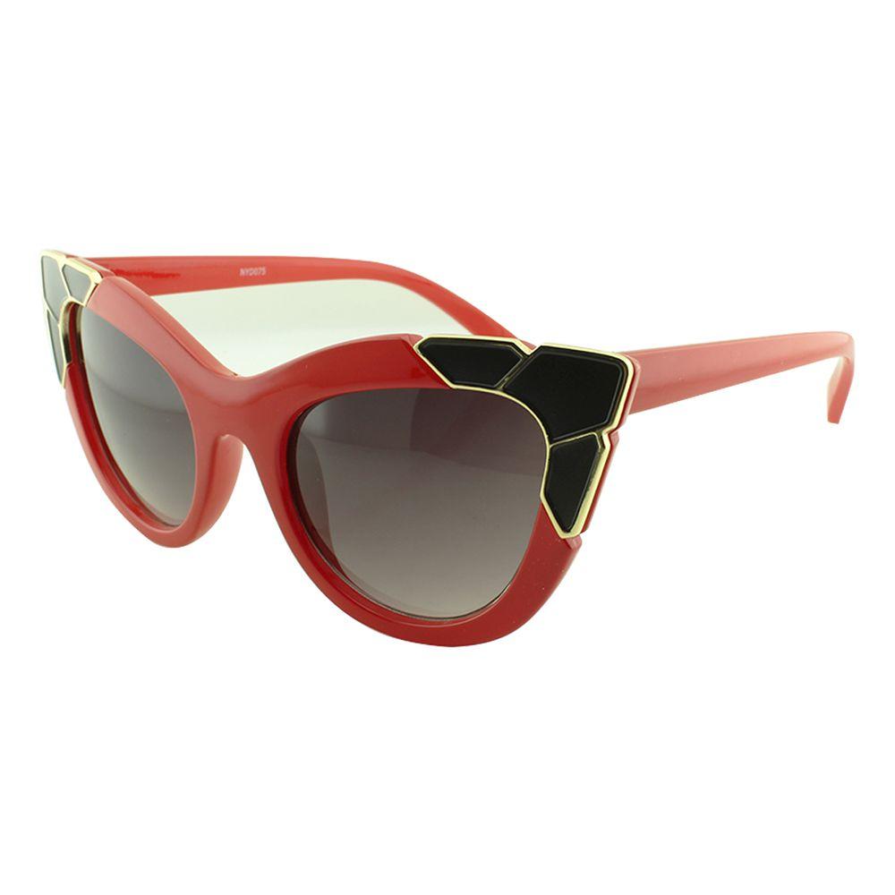 Óculos Solar Feminino Primeira Linha NYD075 Vermelho