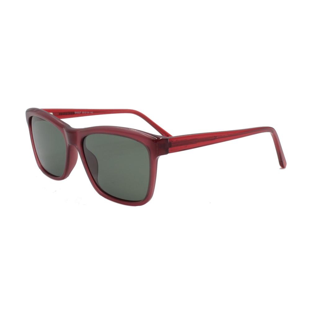 Óculos Solar Feminino Primeira Linha Polarizado BA027-C4 Rosa e Vermelho em Acetato