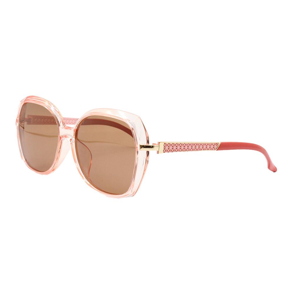 Óculos Solar Feminino Primeira Linha Polarizado PJ2007 Rosa e Marrom