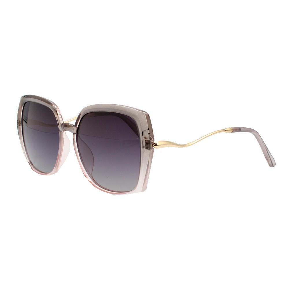 Óculos Solar Feminino Primeira Linha Polarizado PJ2020 Cinza e Rosa Degradê