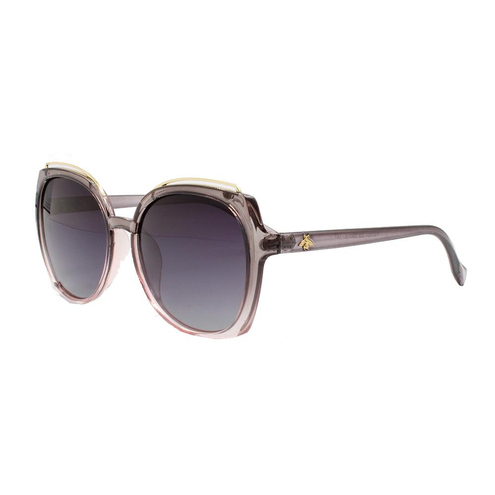 Óculos Solar Feminino Primeira Linha Polarizado PJ2021 Cinza e Rosa Degradê