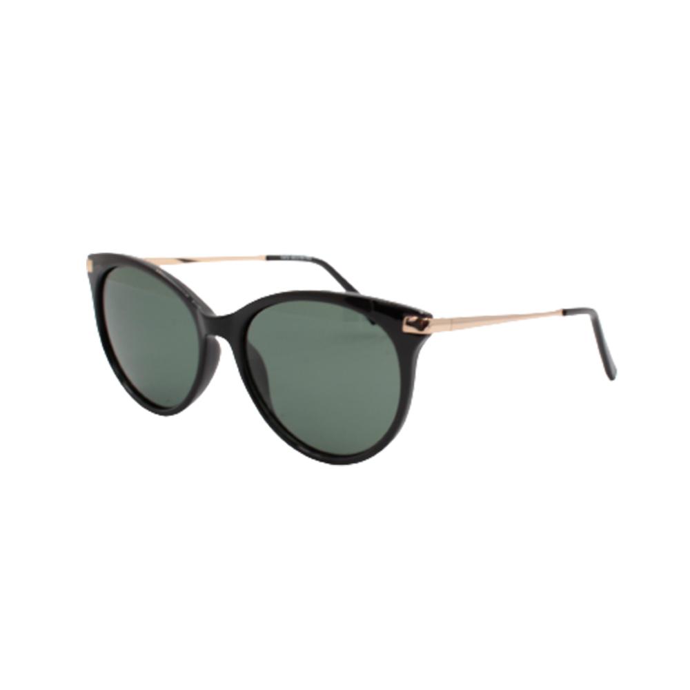 Óculos Solar Feminino Primeira Linha Polarizado T473-C1 Preto e Verde