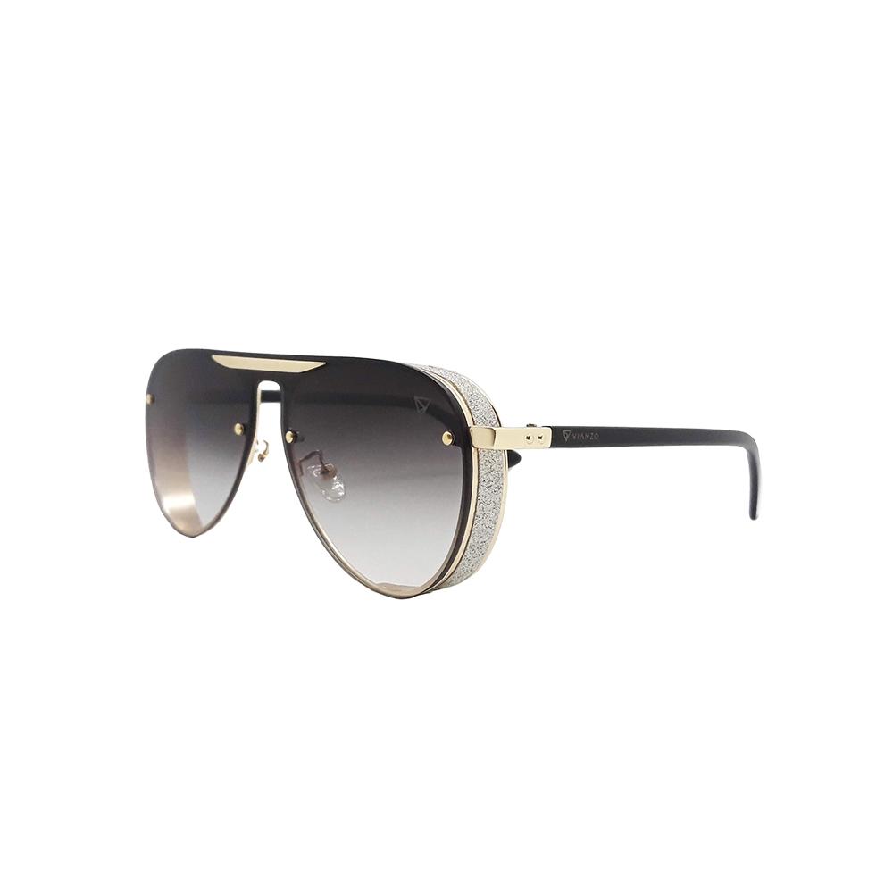 Óculos Solar Feminino Primeira Linha R8822 Preto Vianzo com Estojo
