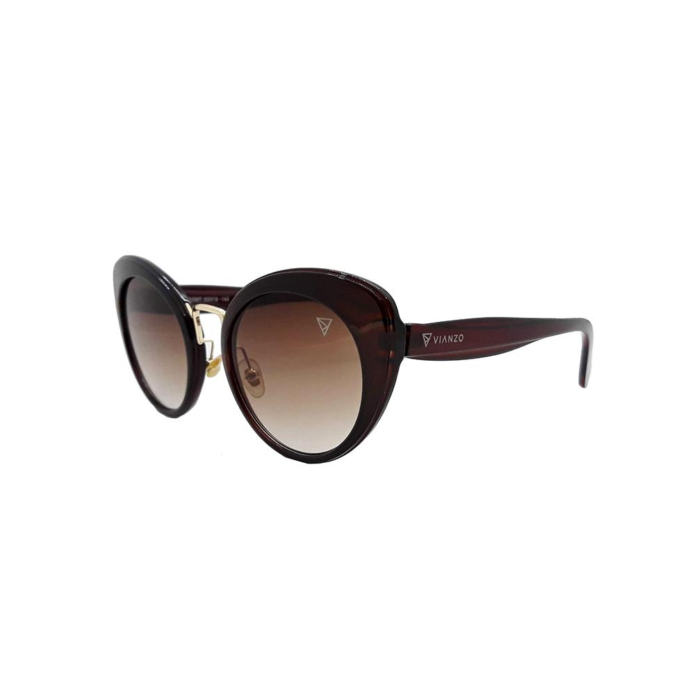 Óculos Solar Feminino Primeira Linha SMU06T Marrom Vianzo com Estojo