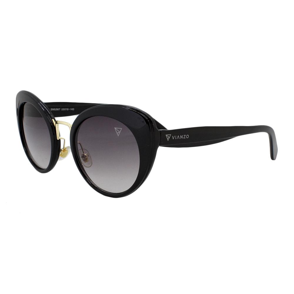 Óculos Solar Feminino Primeira Linha SMU06T Preto Vianzo com Estojo