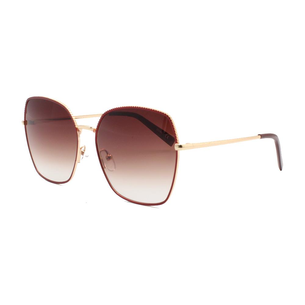 Óculos Solar Feminino Primeira Linha YC3290 Dourado e Vermelho
