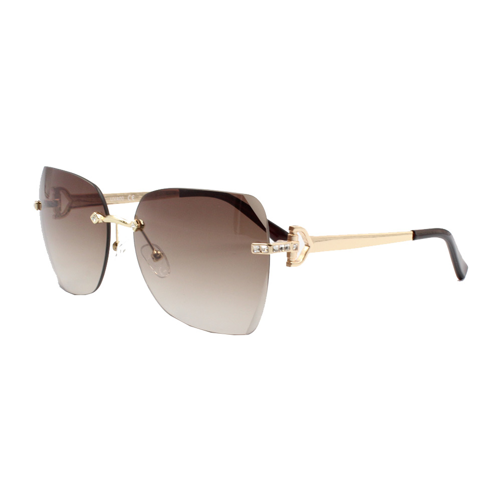 Óculos Solar Feminino Primeira Linha YC3291 Dourado e Marrom
