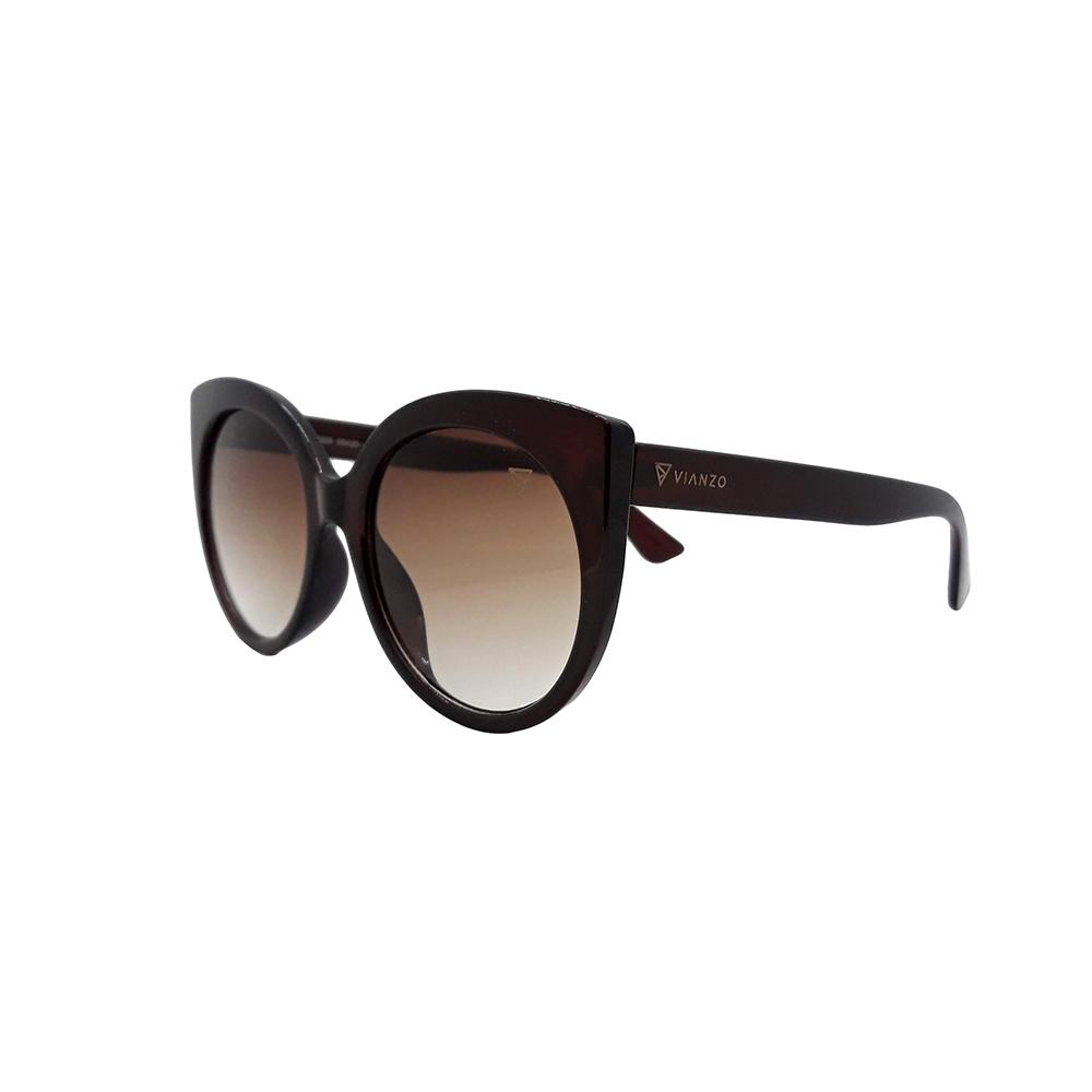 Óculos Solar Feminino S0325 Marrom Vianzo com Estojo