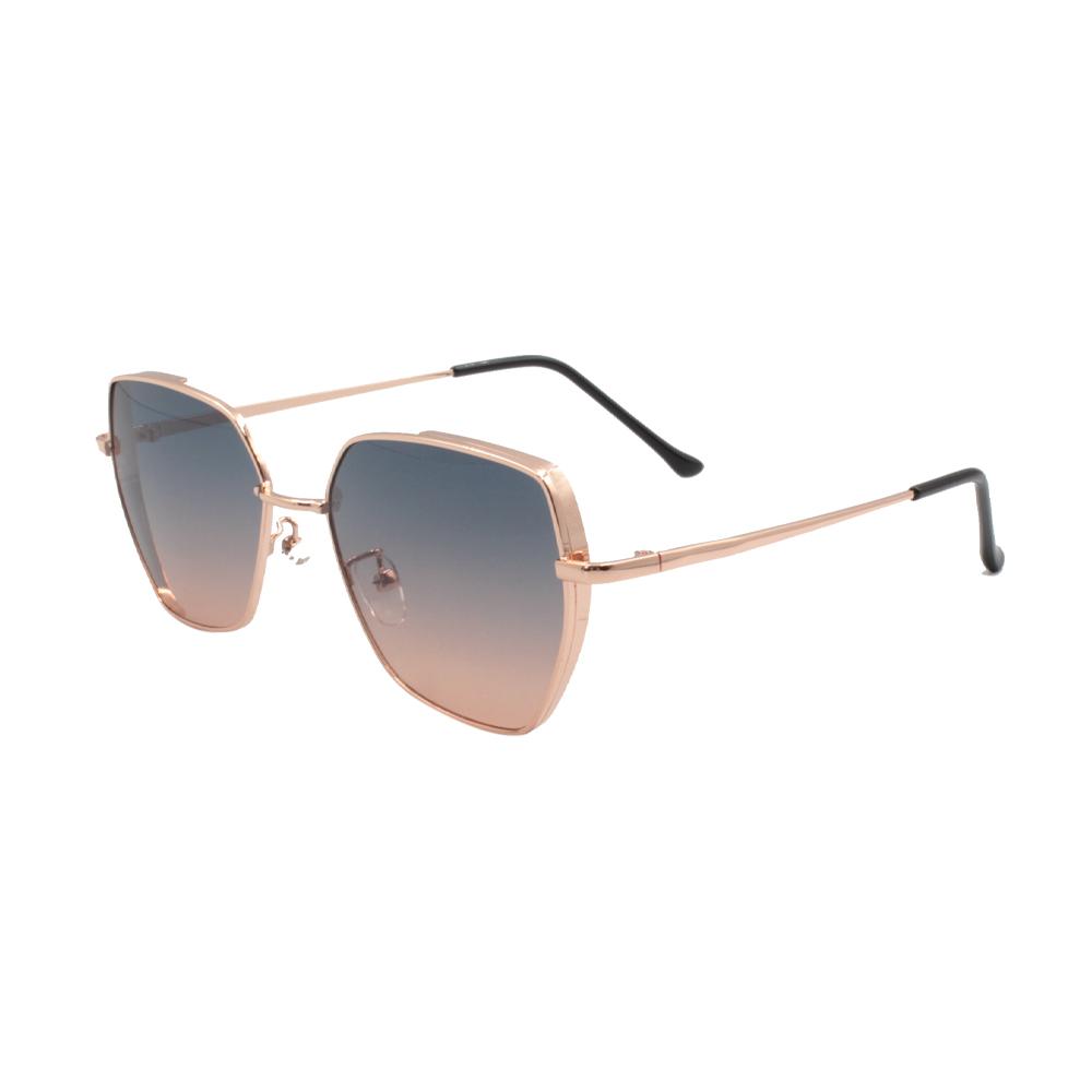 Óculos Solar Feminino ZB006 Dourado Colorido