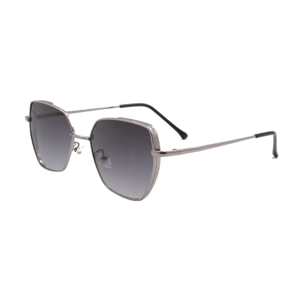 Óculos Solar Feminino ZB006 Prata e Preto