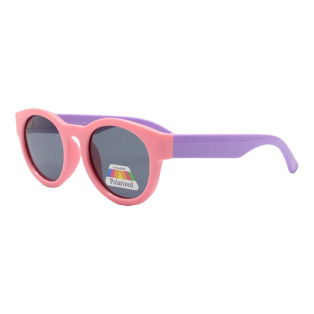 Óculos Solar Infantil Polarizado em Nylon Flexível CT11002 Rosa e Lilás