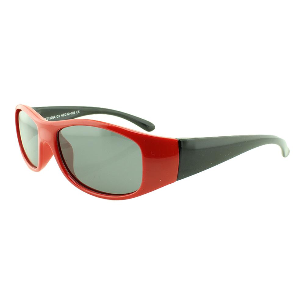 Óculos Solar Infantil Polarizado em Nylon Flexível CT11004 Vermelho
