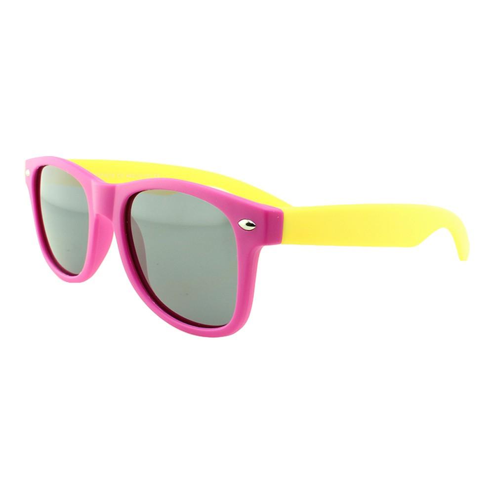 Óculos Solar Infantil Polarizado em Nylon Flexível CT11010 Rosa e Amarelo