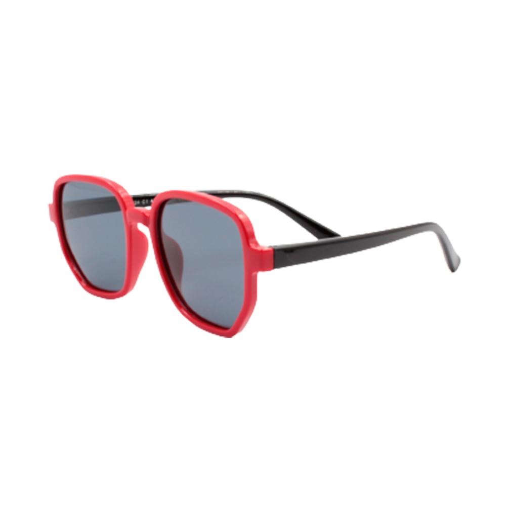 Óculos Solar Infantil Polarizado em Nylon Flexível CT11024-C1 Vermelho e Preto