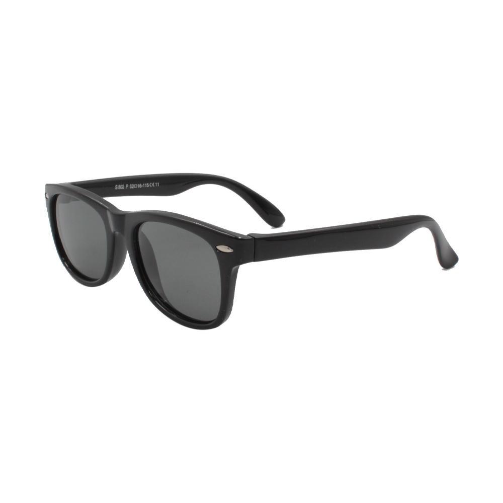 Óculos Solar Infantil Polarizado em Nylon Flexível S802P-C11 Preto