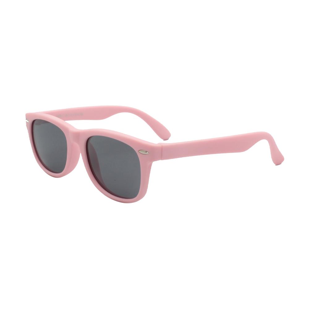 Óculos Solar Infantil Polarizado em Nylon Flexível S802P-C22 Rosa Claro