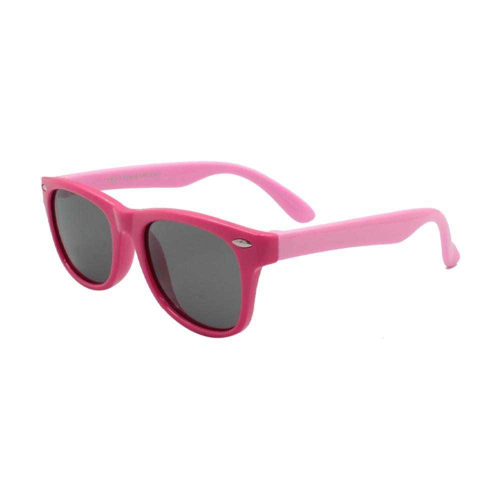Óculos Solar Infantil Polarizado em Nylon Flexível S802P-C30 Rosa
