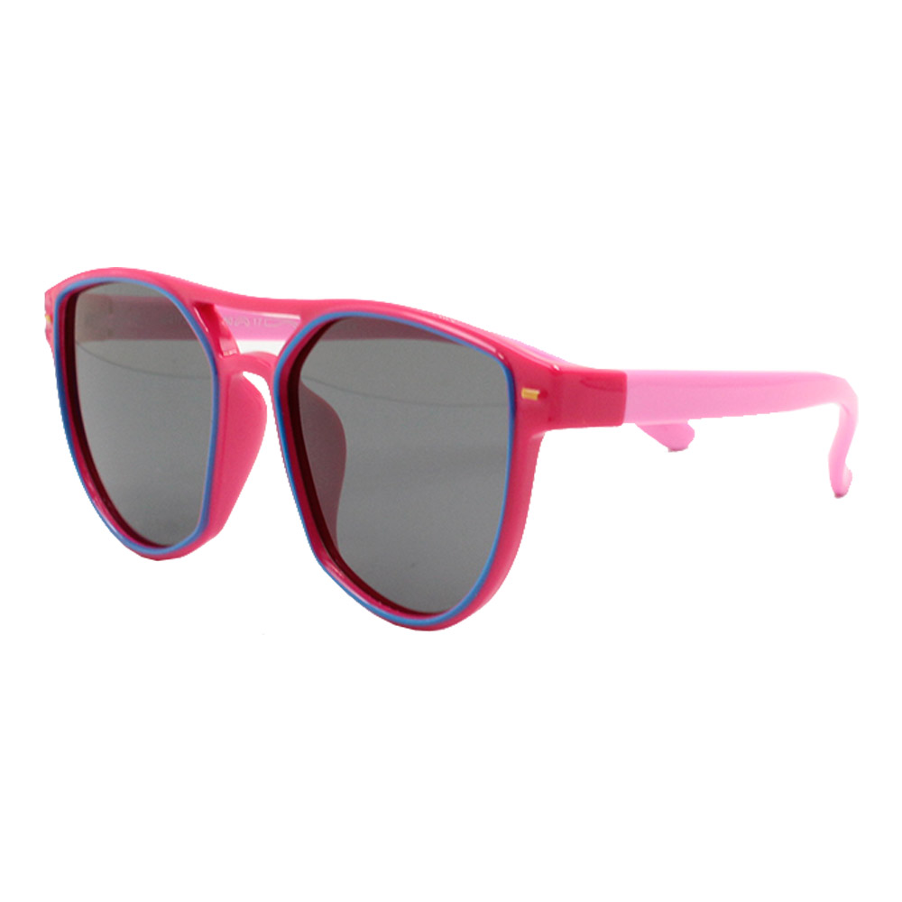Óculos Solar Infantil Polarizado em Nylon Flexível S8172 Rosa