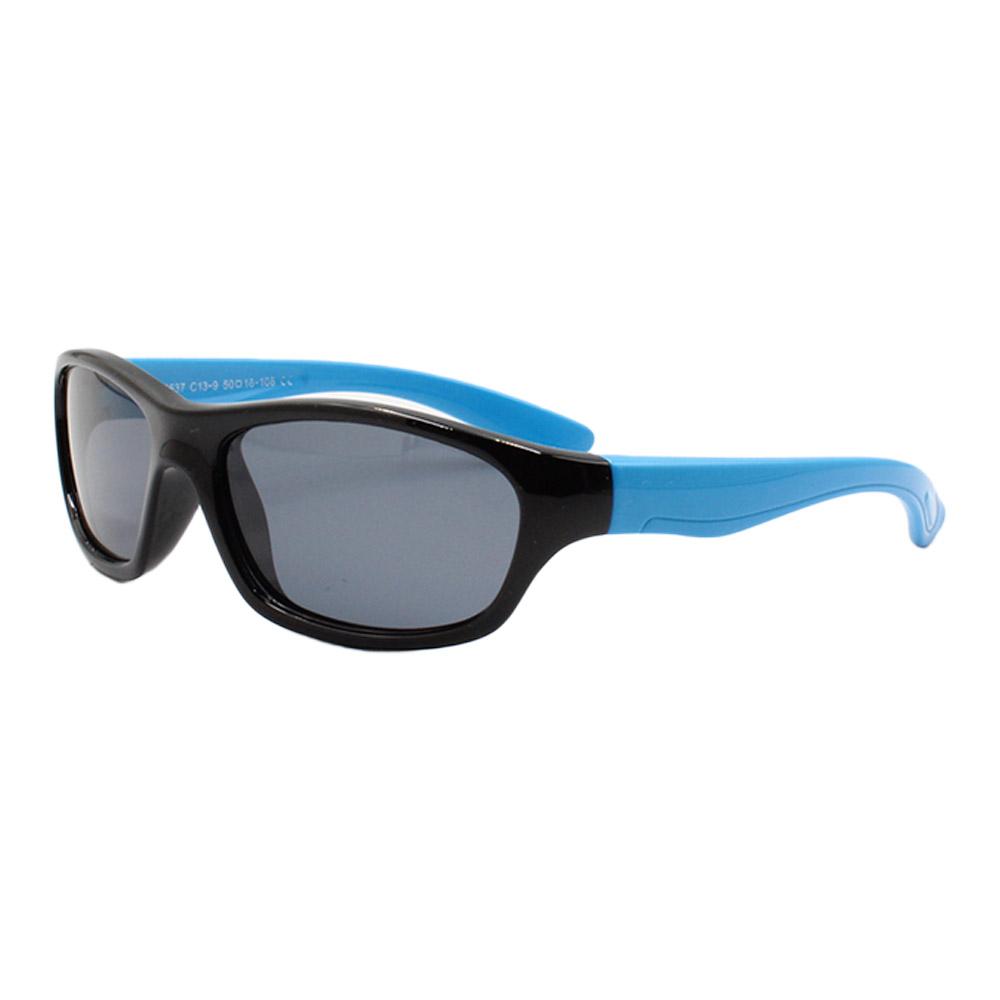 Óculos Solar Infantil Polarizado em Nylon Flexível T1637 Preto