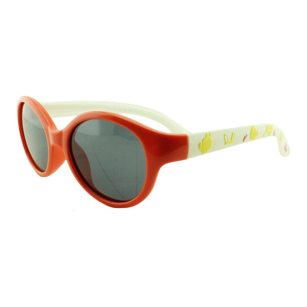 Óculos Solar Infantil Polarizado em Nylon Flexível T1638 Laranja